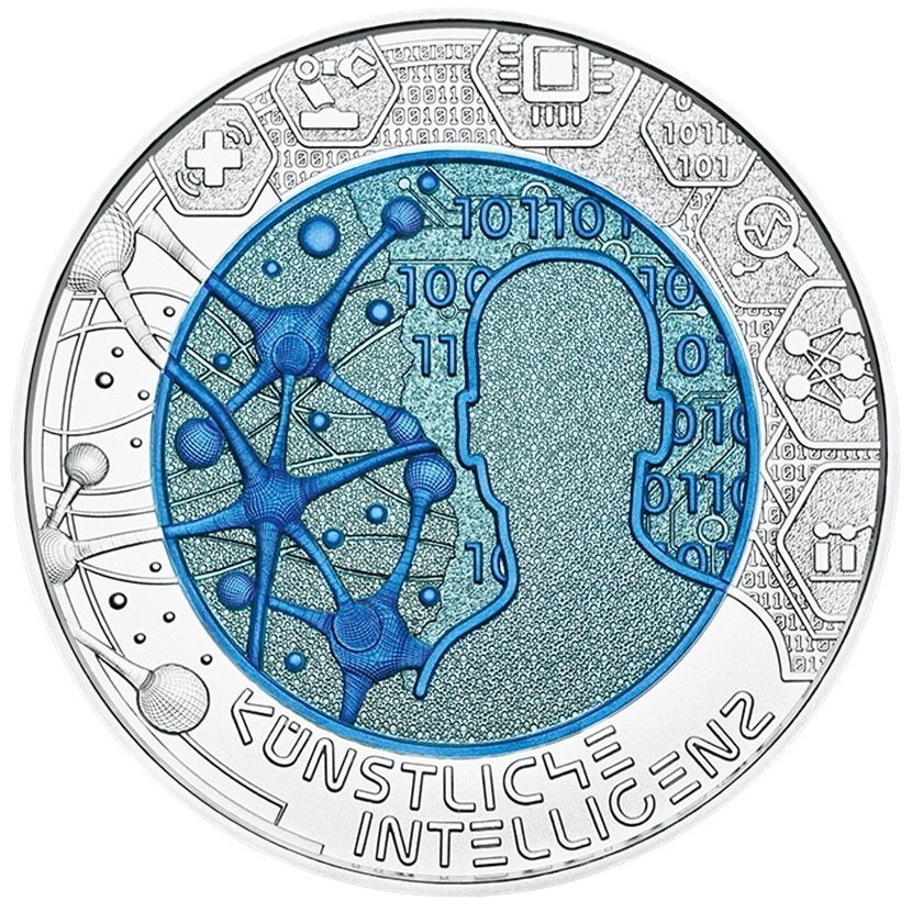 25 euro Austria 2019 - Artificial intelligence Reverse (zoom)