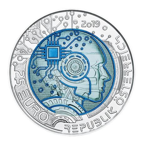25 euro Autriche 2019 - Intelligence artificielle Avers