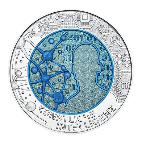 25 euro Autriche 2019 - Intelligence artificielle Revers