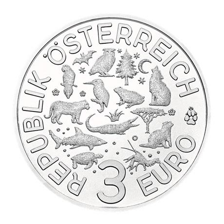 3 euro Autriche 2019 - Tortue Avers