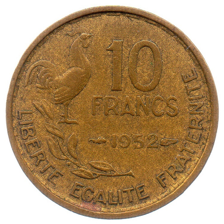 (FMO.10.1952.4.5.tb_.000000001) 10 Francs Guiraud 1952 Reverse (zoom)