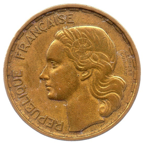 (FMO.20.1950.2.1.ttb_.000000001) 20 Francs Guiraud 1950 Obverse (zoom)