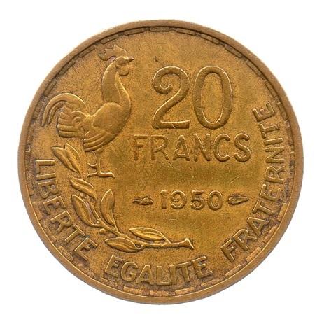 (FMO.20.1950.2.1.ttb.000000001) 20 Francs Guiraud 1950 Revers