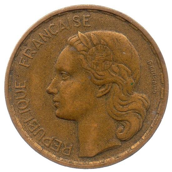 (FMO.20.1952.3.7.ttb_.000000001) 20 Francs Guiraud abbreviated signature 1952 Obverse (zoom)