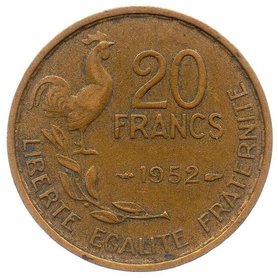 (FMO.20.1952.3.7.ttb_.000000001) 20 Francs Guiraud abbreviated signature 1952 Reverse (zoom)