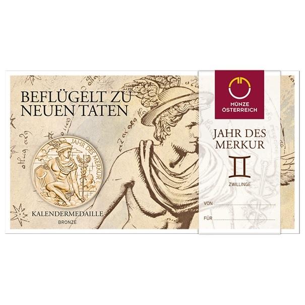 (MED01.Méd.MünzeÖ.2019.CuSn_.23745) Bronze medal Calendar 2019 (packaging) (zoom)