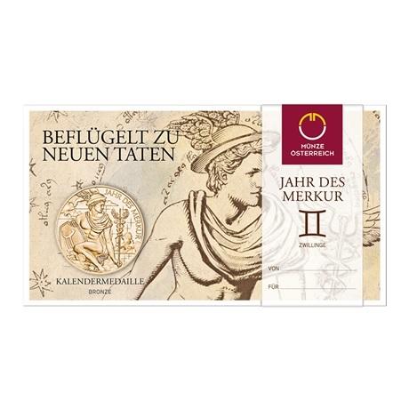 (MED01.Méd.MünzeÖ.2019.CuSn.23745) Médaille bronze - Calendrier 2019 (packaging)