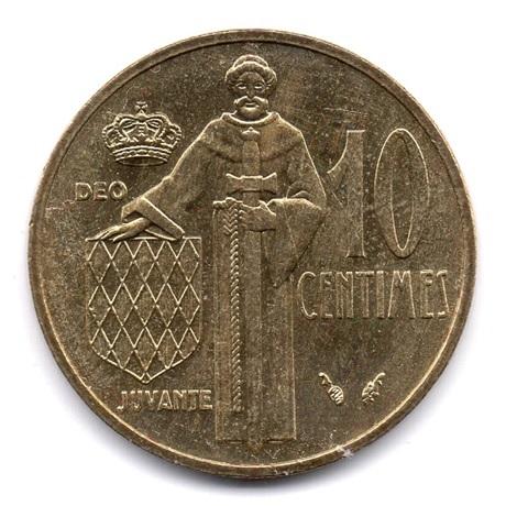 (W150.010.1982.1.ttb.000000001) 10 centimes Rainier III 1982 Revers