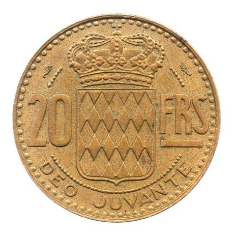(W150.5000.1950.1.1.000000001) 50 Francs Prince Rainier III 1950 Revers