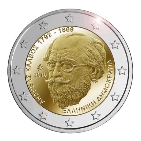 2 euro commémorative Grèce 2019 - Andreas Kalvos