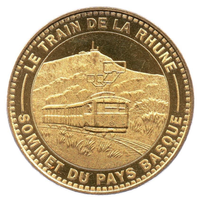(FMED.Méd.tourist.2018.CuAlNi4.spl_.000000001) Tourism token - Train de la Rhune Obverse (zoom)