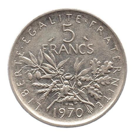 (FMO.5.1970.51.1.ttb.000000003) 5 Francs Semeuse 1970 Revers