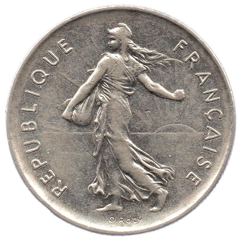 (FMO.5.1970.51.1.ttb_.000000003) 5 Francs Sower 1970 Obverse (zoom)