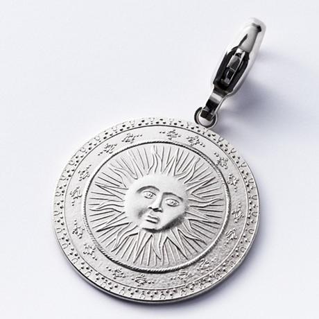 (MED01.Méd.couMünzeÖ.Ag.23261) Médaille de cou argent - Soleil Avers