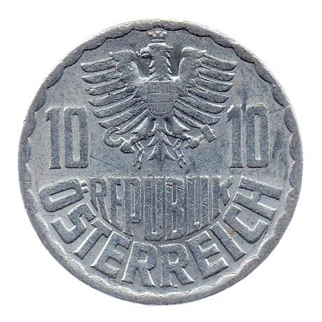 (W018.010.1970.1.ttb.000000001) 10 Groschen Aigle 1970 Avers