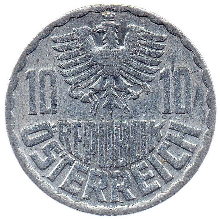 (W018.010.1970.1.ttb_.000000001) 10 Groschen Eagle 1970 Obverse (zoom)