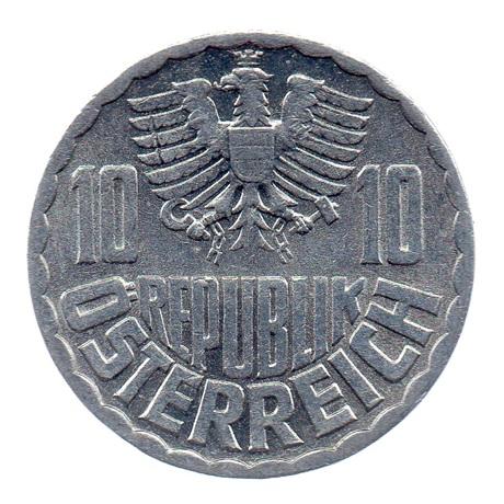 (W018.010.1975.1.spl.000000001) 10 Groschen Aigle 1975 Avers