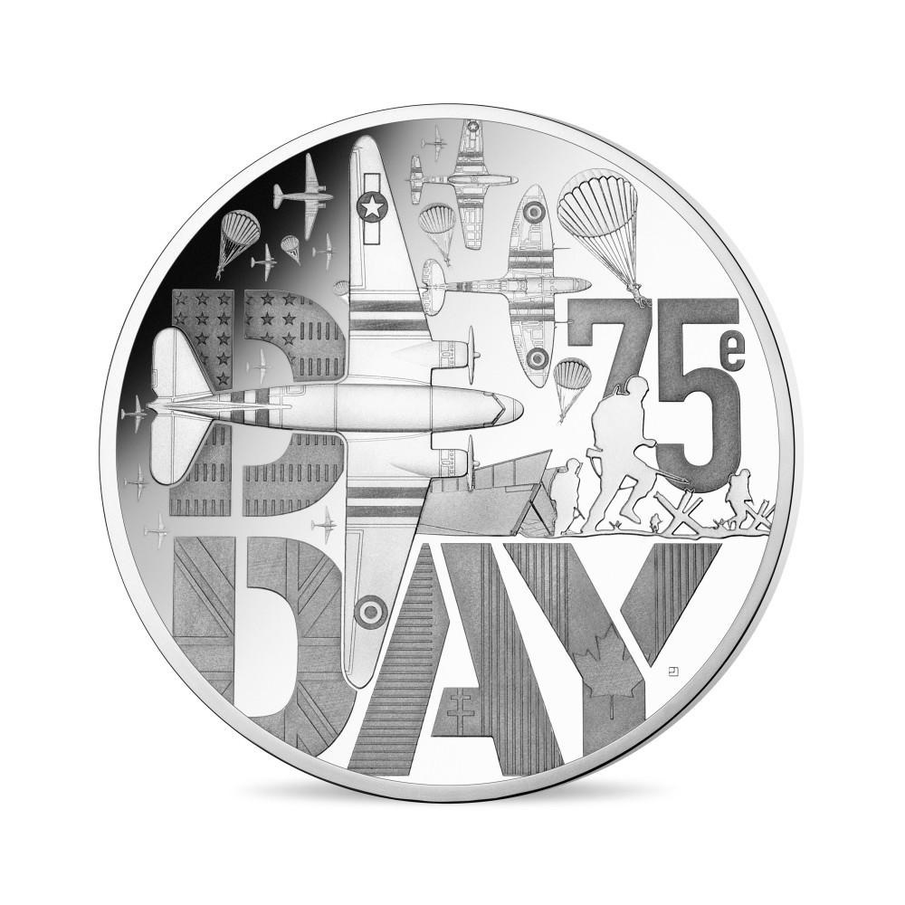10 euro France 2019 Proof silver - D Day Obverse (zoom)