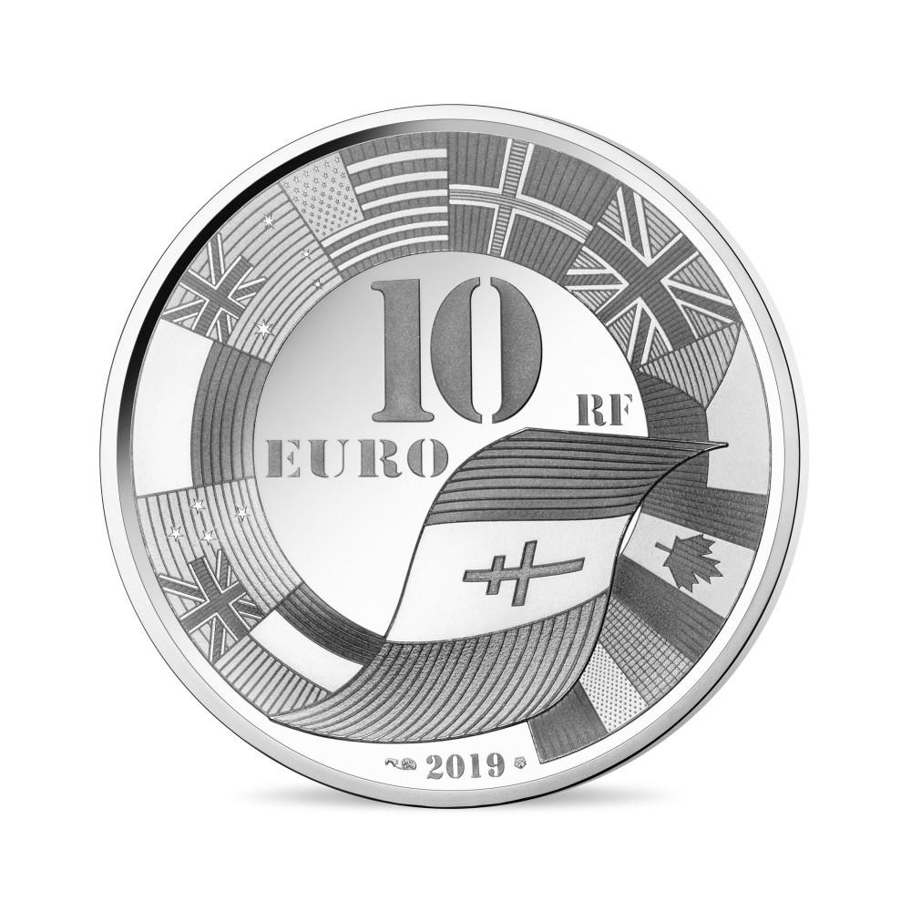 10 euro France 2019 Proof silver - D Day Reverse (zoom)