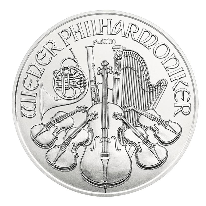100 euro Austria 2019 1 ounce platinum - Vienna Philharmonic Orchestra Reverse (zoom)