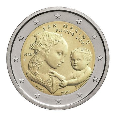 2 euro commémorative Saint-Marin 2019 BU - Filippo Lippi