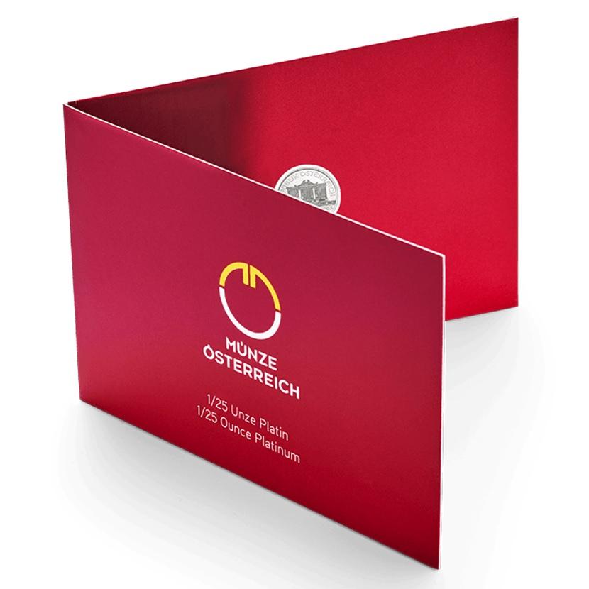 4 euro Austria 2019 0.04 ounce platinum - Vienna Philharmonic Orchestra (blister's front) (zoom)