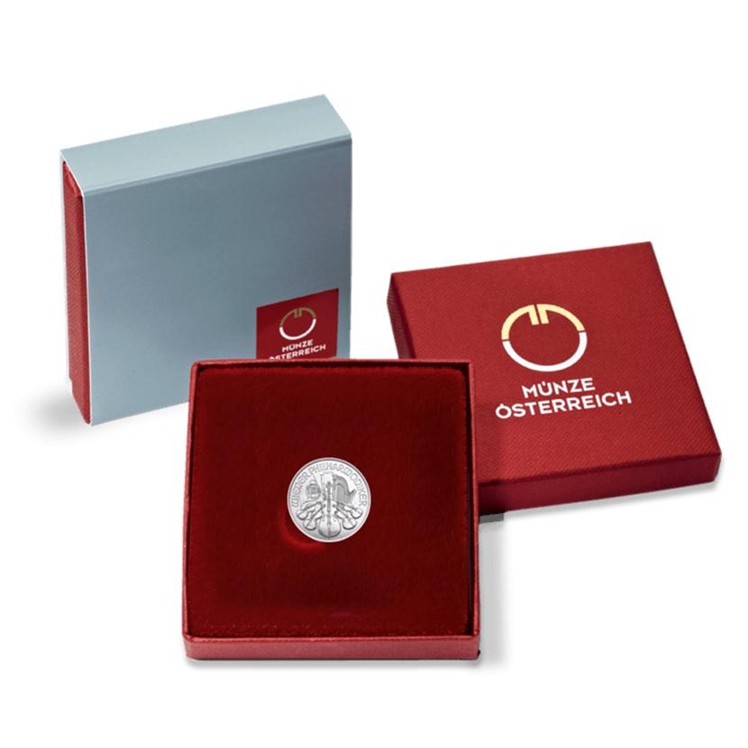 4 euro Austria 2019 0.04 ounce platinum - Vienna Philharmonic Orchestra (case) (zoom)