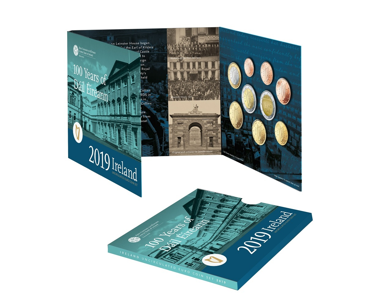 BU coin set Ireland 2019 (inside) (zoom)