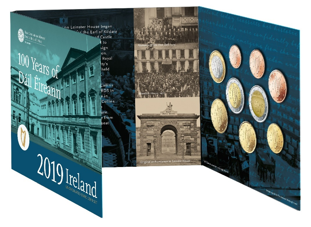 BU coin set Ireland 2019 (open) (zoom)