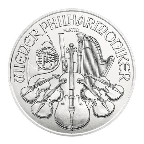 (EUR01.10000.2019.1.pt.bullco.21721) 100 euro Autriche 2019 1 once platine - Philharmonique Revers