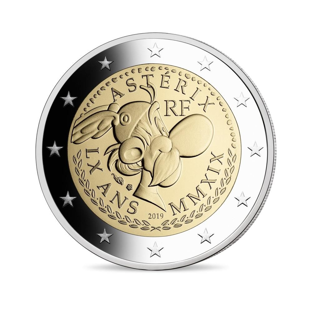 (EUR07.ComBUBE.2019.200.BE_.10041330030000) 2 euro France 2019 Proof - Asterix Obverse (zoom)