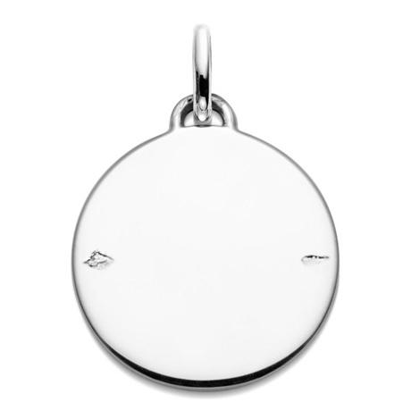 (FMED.Méd.couMdP.Ag.10011335200P00) Médaille de cou argent - Premiers pas sur Terre Revers