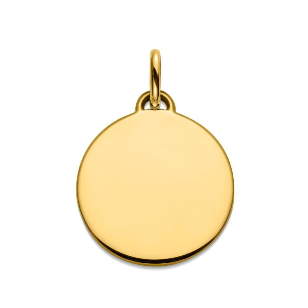 (FMED.Méd.couMdP.Au_.10011335180P00) Gold pendant medal - First steps on the moon Reverse (zoom)