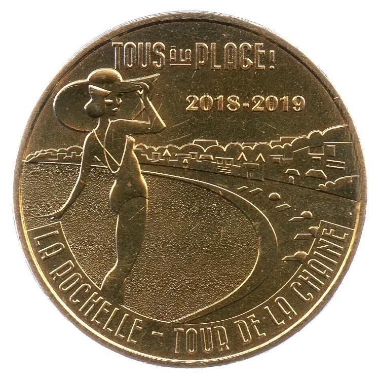 (FMED.Méd.tourist.2018.CuAlNi3.1.1.spl_.000000001) Tour de la Chaîne, in La Rochelle Obverse (zoom)