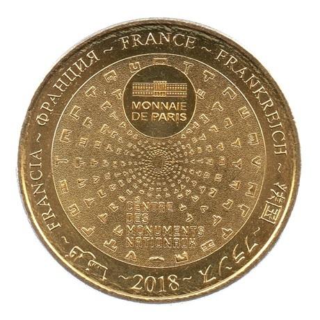 (FMED.Méd.tourist.2018.CuAlNi3.2.spl.000000001) Jeton touristique - Tours de La Rochelle Revers