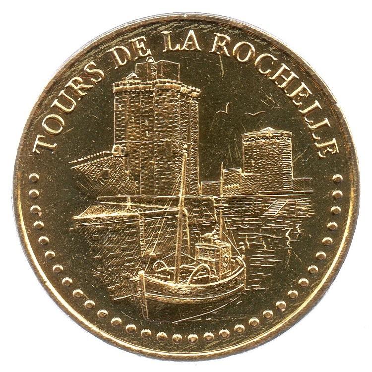 (FMED.Méd.tourist.2018.CuAlNi3.2.spl_.000000001) Towers in La Rochelle Obverse (zoom)