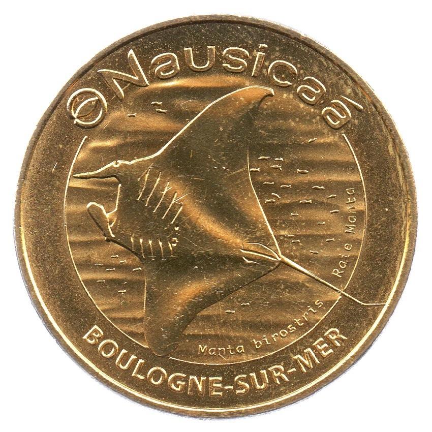 (FMED.Méd.tourist.2019.CuAlNi2.7.1.spl_.000000001) Tourism token - Manta ray Obverse (zoom)