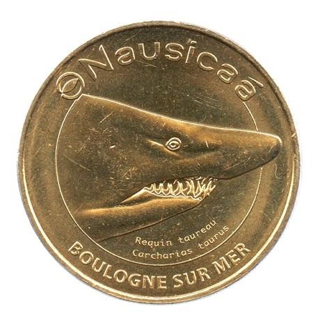 (FMED.Méd.tourist.2019.CuAlNi2.7.2.spl.000000001) Jeton touristique - Requin taureau Avers