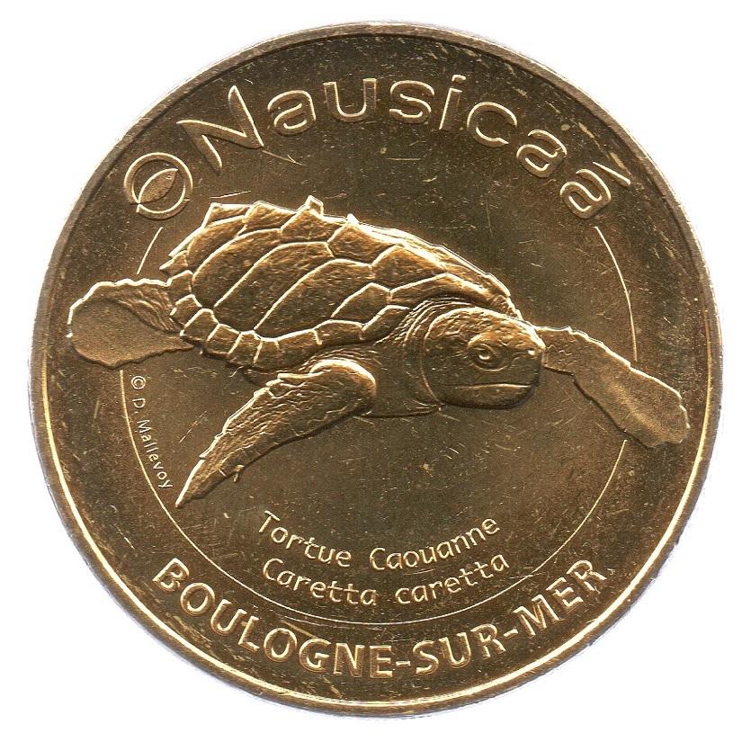 (FMED.Méd.tourist.2019.CuAlNi2.8.spl_.000000001) Tourism token - Loggerhead sea turtle Obverse (zoom)