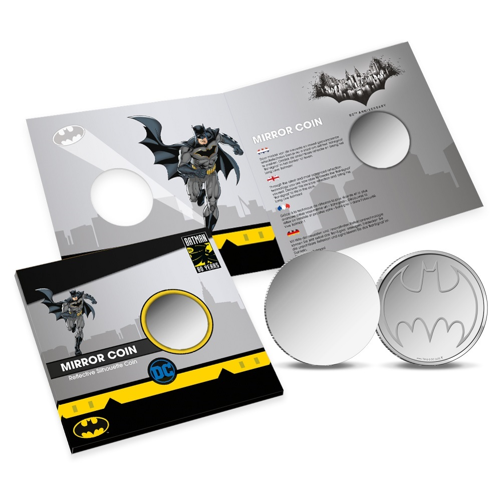 (MED14.Méd.KNM_.2019.FeC1) Mirror coin - Batman (with packaging) (zoom)