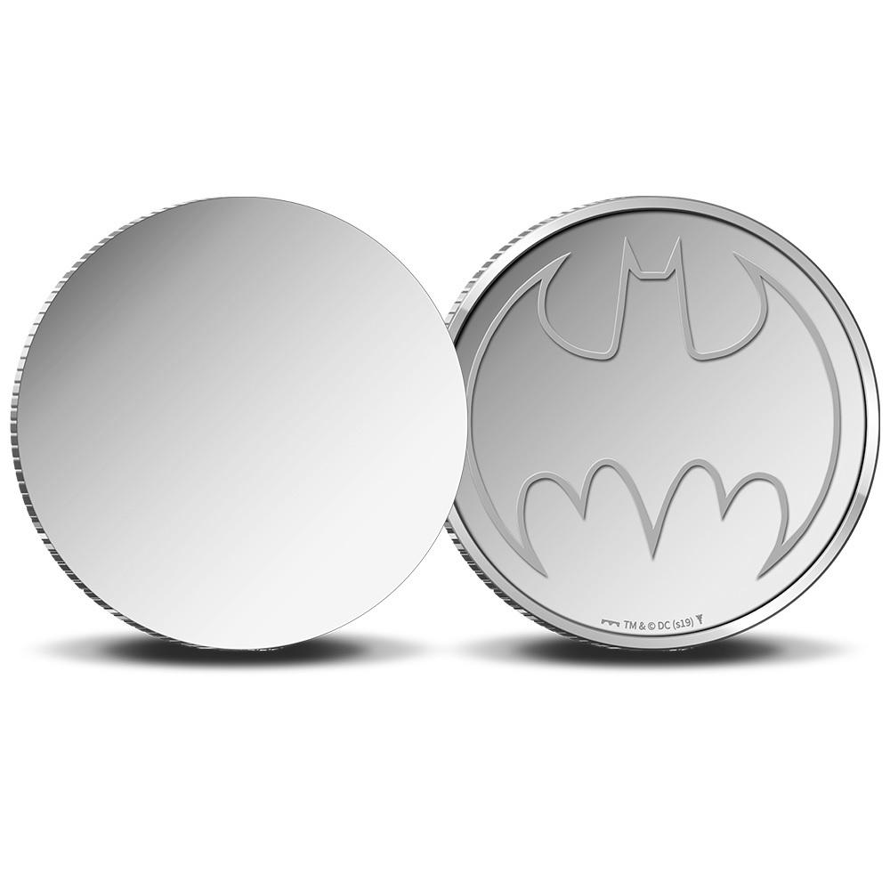 (MED14.Méd.KNM_.2019.FeC1) Mirror coin - Batman (zoom)