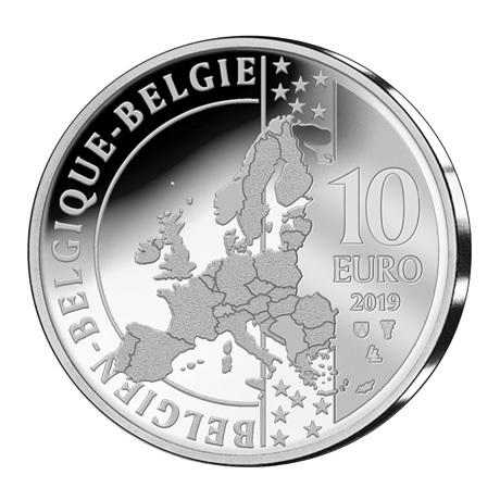 10 euro Belgique 2019 argent BE - Albéric Schotte Avers