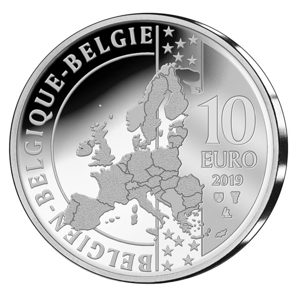10 euro Belgium 2019 Proof silver - Briek Schotte Obverse (zoom)