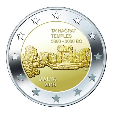 2 euro commémorative Malte 2019 - Ta' Ħaġrat