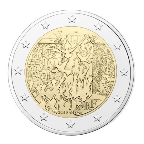 2 euro commemorative coin France 2019 - Berlin Wall
