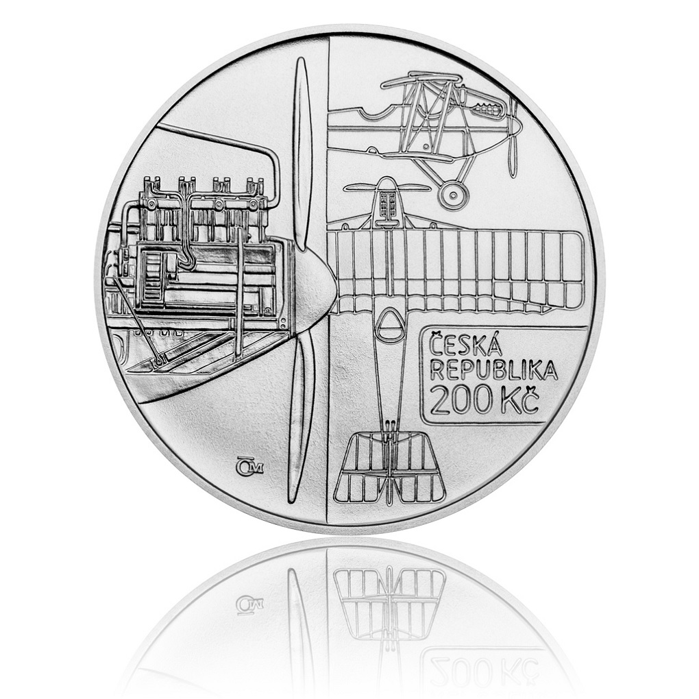 200 Korun 100th anniversary of the Bohemia B-5 2019 - Silver Obverse (zoom)