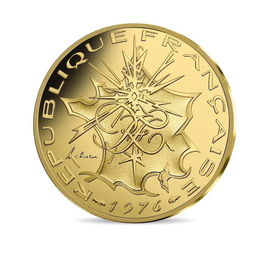 200 euro France 2019 Brilliant Uncirculated gold - Georges Mathieu Obverse (zoom)