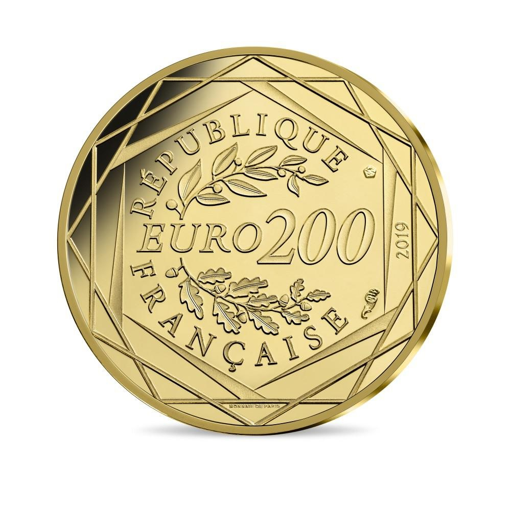 200 euro France 2019 Brilliant Uncirculated gold - Georges Mathieu Reverse (zoom)