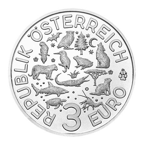 3 euro Autriche 2019 - Ecrevisse Avers