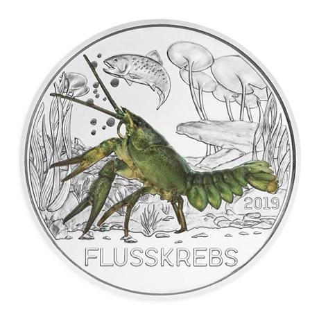 3 euro Autriche 2019 - Ecrevisse Revers